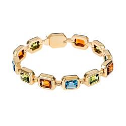 PulseraPulcera Oreage oro amarillo vermeil ,piedras preciosas  CNB-0038-OA