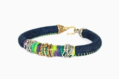 BRACELET TEJANO TWO-TONE WEST078 THE BRUIXETA La bruixeta