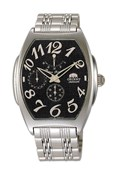 WATCH MEN ORIENT AUTOMATIC BLACK DIAL NUMBERS EZAB5B0