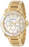 WATCH. VICEROY WOMEN'S GOLD TONE AND MOTHER OF PEARL 47688-95