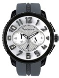 50MM BLACK BOX AND GREY 2302046016 TENDENCE RUBBER STRAP WATCH