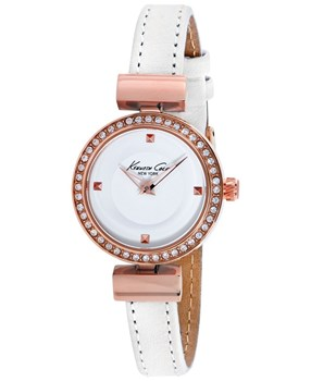 WATCH ANALOG WOMEN. QUARTZ MOVEMENT. BOX OF WHITE PVC. POLYURETHANE STRAP WHITE/PINK. DIAL COLOR: WHITE. GLASS . CLOSURE MAGNETIC. SUBMERSIBLE: NO. DIMENSIONS: 34MM Kenneth cole 10022302