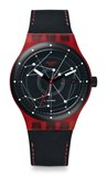 RED AND BLACK AUTOMATIC WATCH SUTR400 SWATCH