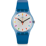 Reloj azul color square suon125 Swatch