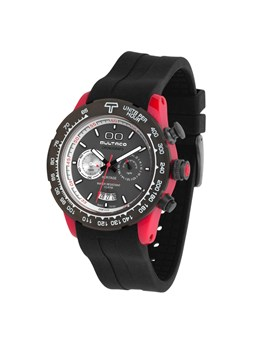 WATCH BULTACO MK1 POLYCERAMIC 43 CHRONO RED GREY H1PR43C-CA1
