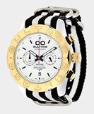 MONTRE BULTACO MK1 POLYCERAMIC CHRONO OR BLANC-T2 43 H1PW43C-CW2-T2