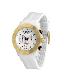 MONTRE BULTACO MK1 POLYCERAMIC CHRONO 43 OR BLANC H1PW43C-CW2