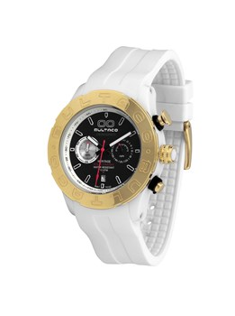 WATCH BULTACO MK1 POLYCERAMIC 43 CHRONO WHITE GREEN GOLD H1PW43C-CV1