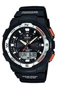 WATCH CAB ANA/DIGI BLACK, CASIO SGW-500H-1BVER