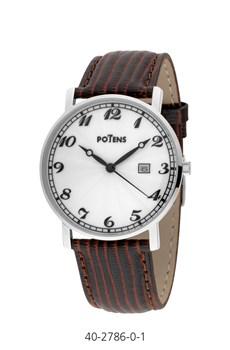 Reloj cab caja acero correa de piel  40-2786-0-1 Potens