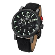 MEN CALENDAR 50MTS 356.04 MINERAL CRYSTAL CHRONOGRAPH WATCH STÜHRLING