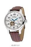 WATCH MEN MECHANICAL AUTOMATIC BOX STEEL STRAP LEATHER 40-2811-0-1 Potens