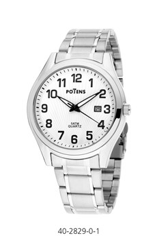 MEN WATCH ROME POTENS CASE AND BRACELET STEEL 40-2829-0-1