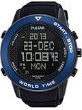 Reloj Pulsar caballero,digital,caja acero de 49mm de diámetro,100mts,calendario,cronógrafo,luz, PQ2029X1
