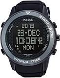 Reloj Pulsar caballero,digital,caja acero de 49mm de diámetro,100mts,calendario,cronógrafo,luz,    PQ2035x1