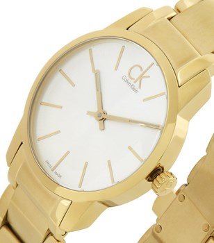 CALVIN KLEIN GOLD WATCH 18 K GOLD K2G23546