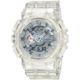 CASIO WATCH G-SHOCK RESIST DIGITAL TRANSPARENT WHITE GA110CR-7AER