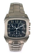 CITIZEN WATCH STEEL SRA ALARM CHRONO AN6010 - 56L AN6010-56L