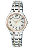WATCH CITIZEN ECO-DRIVE WOMEN'S TWO-TONE EW2486-87A