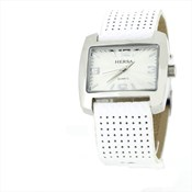 Reloj correa blanca  HSC1002B- Hersa