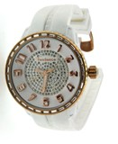 WATCH BRACELET WHITE AND GOLD PLATED BEZEL PINK 2302093015 TENDENCE