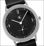 Reloj correa piel negra CK esfera negra K3211 Calvin Klein
