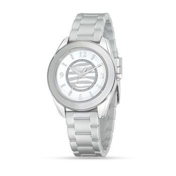 Reloj Just Cavalli para mujer correa de plástico plateada R7251602510