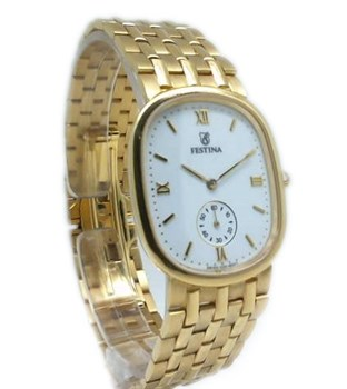 GOLD WATCH FESTINA HOME ARMYS BRIL F0204-1