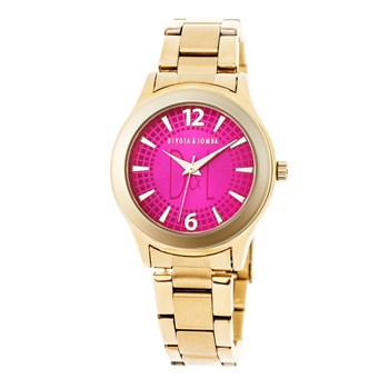 WOMAN GOLD WATCH, FUCHSIA SPHERE 8435432511510 DEVOTA & LOMBA