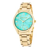 WOMAN GOLD WATCH, TURQUOISE DIAL 8435432511619 DEVOTA & LOMBA
