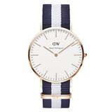RELÓGIO DW00100004 CLASIC MAN GLASGOW ROSE 40MM DANIEL WELLINGTON