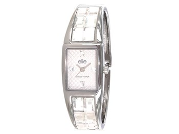 Watch elite steel and crystals E53104-201