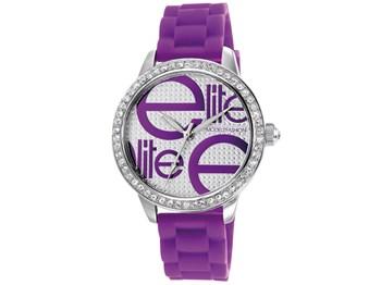 Reloj Elite de caucho lila E52469-G215