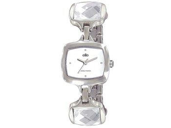 Elite steel and crystals watch E5238.4/201
