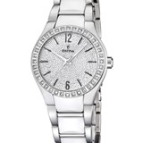 WATCH FESTINA FOR WOMAN STEEL AND CERAMIC WHITE F16657/1