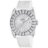 WATCH FESTINA WOMEN'S STEEL WHITE SILICONE F16540/1
