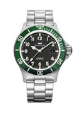 WATCH, GLYCINE AUTOMATIC COMBAT SUB BEZEL GREEN 3908.19AT2-V