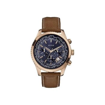 GUESS WATCH MEN PLATED ROSE STRAP CHRONO W0500G1