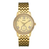 GUESS WATCH WOMEN STEEL GOLD TONE W0573L2