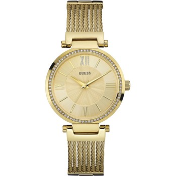 GUESS WATCH WOMEN ANALOG GOLD TONE STAINLESS STEEL YELLOW W0638L2
