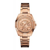GUESS WATCH WOMEN ANALOG STAINLESS STEEL PINK W0235L3