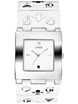 Guess watch women silver and white 11508l 2 11508l2