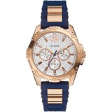 GUESS WATCH FEMALE IP PINK BLUE RUBBER W0325L8
