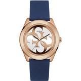 GUESS WATCH FEMALE IP PINK STRAP BLUE W0911L6