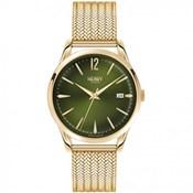 Reloj Henry London dorado amarillo esfera verde HL39-M-0102