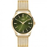MONTRE HENRY LONDRES EN OR JAUNE-VERT SPHÈRE HL39-M-0102 Henry London