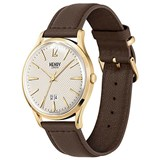 WATCH HENRY LONDON GOLDEN YELLOW AND BROWN LEATHER HL41-JS-0016