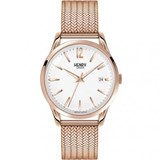 MONTRE HENRY LONDRES EN OR ROSE HL39-M-0026 Henry London