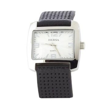 HERSA WATCH BLACK STRAP  HSC1002N