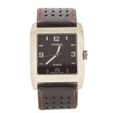 HERSA WATCH BLACK STRAP  HSC1003N